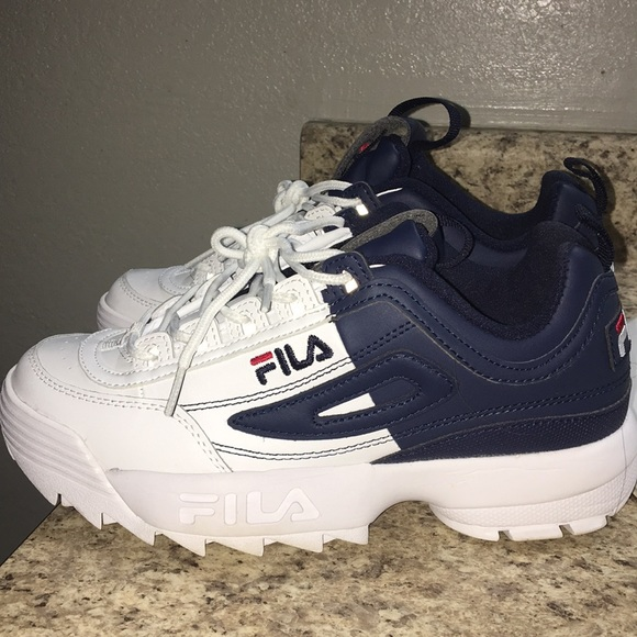 Fila Shoes | Fila White And Blue | Poshmark